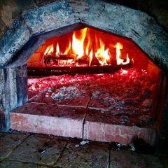 огонь в печи